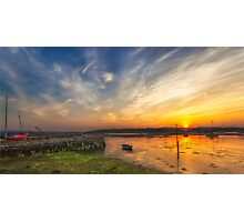 Newtown Quay Sunset Pano Photographic Print