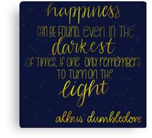 Happiness - Albus Dumbledore Canvas Print