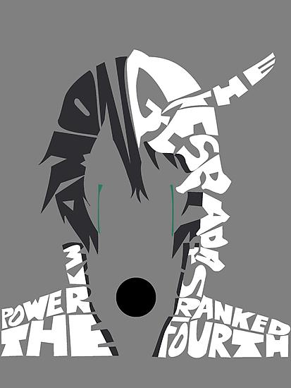 Ulquiorra typography by RebeccaMcGoran