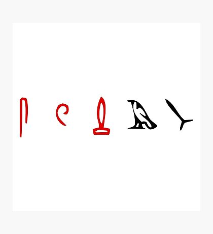 Lost Hieroglyphs (LOST TV Show) Photographic Print