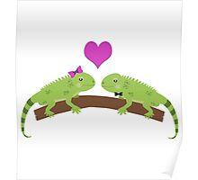 Iguana Love Poster