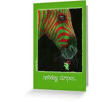 holidays stripes... Greeting Card