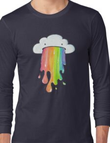 puking cloud rainbow Long Sleeve T-Shirt