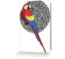 Parrot on florals Greeting Card