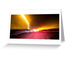 Light Show To Guayaquil Greeting Card