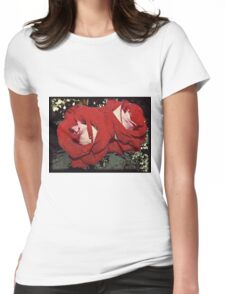 Rain and Roses Womens Fitted T-Shirt