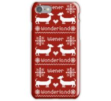 Wiener Wonderland in Festive Red - Dachshund Sausage Dog iPhone Case/Skin
