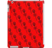 Skeleton Clique red Alien Symbol iPad Case/Skin