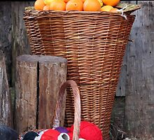 oranges and balls of wool by spetenfia