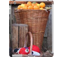 oranges and balls of wool iPad Case/Skin