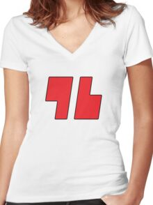 Red's '96 Tee Women's Fitted V-Neck T-Shirt