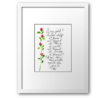 Every Spirit Emerson inspirational quote typography Framed Print