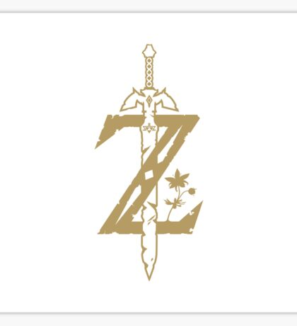 Zelda Logo Breath of the wild and Master sword Sticker