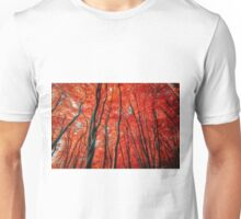 Red Forest of Sunlight Unisex T-Shirt
