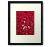 Poppies at The Tower of London - Lest we forget Framed Print