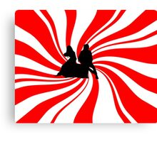 Swirl Design - The White Stripes Canvas Print