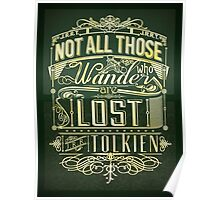 Lost Typography - gold Poster