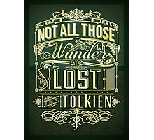 Lost Typography - gold Photographic Print