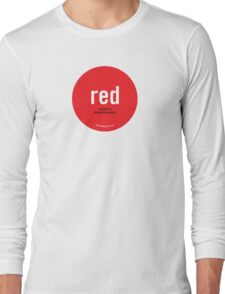 """Consent - Red """"Stop Means Stop"""" Long Sleeve T-Shirt"""