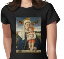 Mary and Christ Child with Garland Womens Fitted T-Shirt