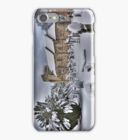 St Cuthbert's in the Snow iPhone Case/Skin