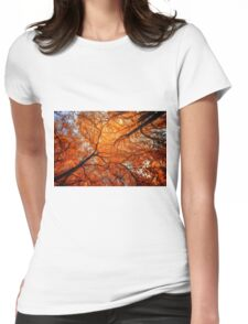 Sky Roots in Forest Red Womens Fitted T-Shirt