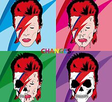 """Changes"" - David Bowie Album Cover Illustration by Jonathan Oldfield"
