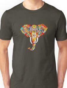 tribal rainbow elephant Unisex T-Shirt
