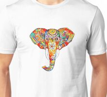 tribal rainbow elephant Unisex T-Shirt
