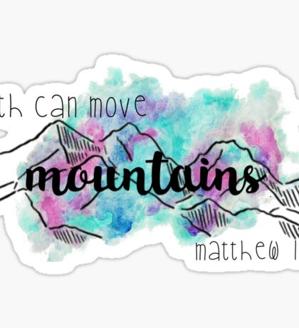 Matthew 17:20 - Colorful Sticker