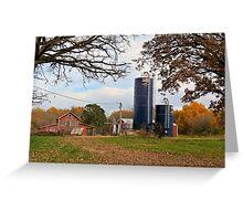 Abandoned Autumn Farm Greeting Card