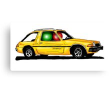 Two ludos in a yellow pacer Canvas Print