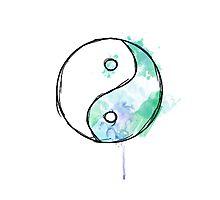 gradient ying/yang Photographic Print