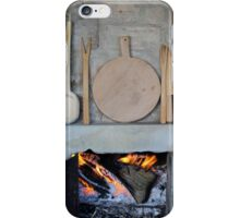 old fireplace with fire iPhone Case/Skin