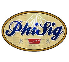 Phi Sig Silver Bullet Photographic Print