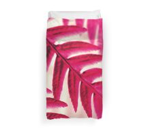 Nature Pattern # 1 - Fern (Red Pink) Duvet Cover