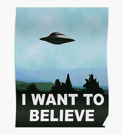 I want to believe, x-files poster Poster