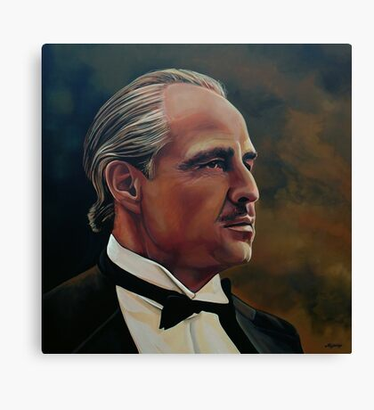 Marlon Brando Painting Canvas Print