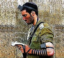 ✌☮ TEFILLIN SOLDIER @ THE WESTERN WALL(WAILING WALL)✌☮ SEPT 2014- NEW FULL VERSION -PILLOW AND OR TOTE BAG -TABLET CASES- IPHONE CASE & TEE SHIRTS!! - AVAILABLE by ✿✿ Bonita ✿✿ ђєℓℓσ