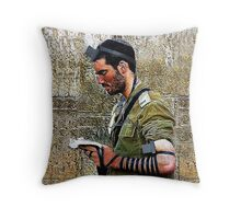 ✌☮ TEFILLIN SOLDIER @ THE WESTERN WALL(WAILING WALL)✌☮ SEPT 2014- NEW FULL VERSION -PILLOW AND OR TOTE BAG -TABLET CASES- IPHONE CASE & TEE SHIRTS!! - AVAILABLE Throw Pillow