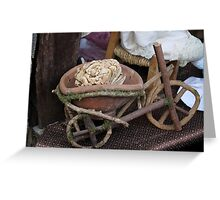 Miniature wooden bicycle Greeting Card