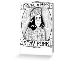 Stay Punk Greeting Card