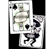 Jack of the Undead Spades Photographic Print