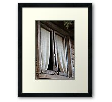 Old window of the cottage Framed Print