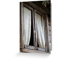 Old window of the cottage Greeting Card
