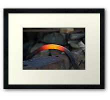 red hot iron Framed Print