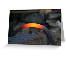 red hot iron Greeting Card
