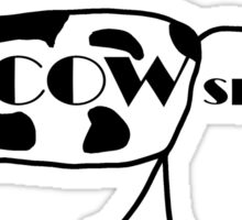 COWspiracy - the cow conspiracy theory Sticker