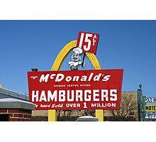 1st McDonald's in Des Plaines, Illinois Photographic Print