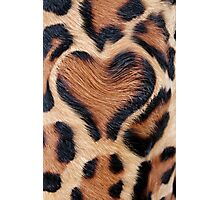 leopard fur heart Photographic Print